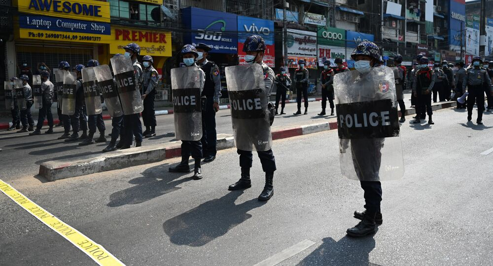 Protests Against Military Coup Continue in Yangon, Myanmar