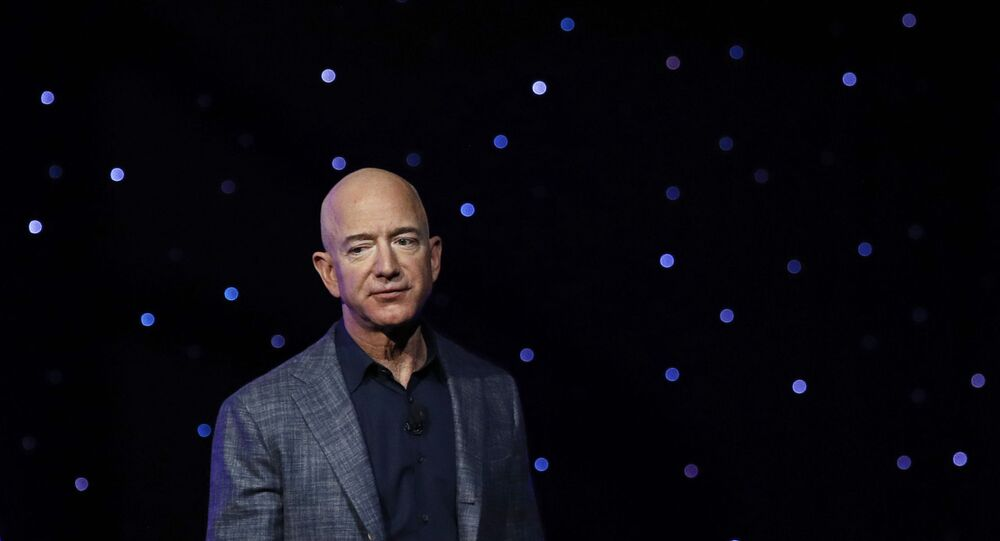 In this May 9, 2019, file photo Jeff Bezos speaks at an event to unveil Blue Origin's Blue Moon lunar lander in Washington