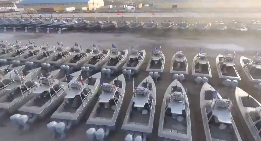 Armada of speedboats delivered to the IRGC Navy on 8 February, 2021.