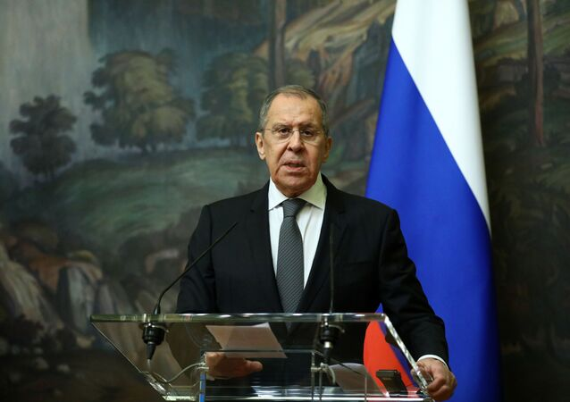 Russia's Foreign Minister Sergei Lavrov attends a news conference following a meeting with European Union's foreign policy chief Josep Borrell in Moscow, Russia February 5, 2021.
