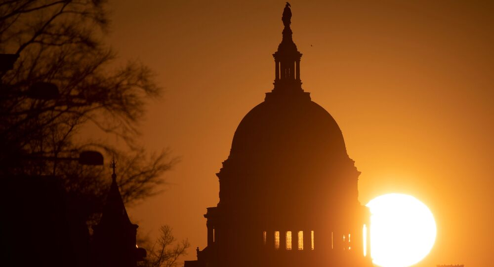 The sun rises over the U.S. Capitol ahead of former U.S. President Donald Trump?s second impeachment trial in Washington, U.S., February 8, 2021