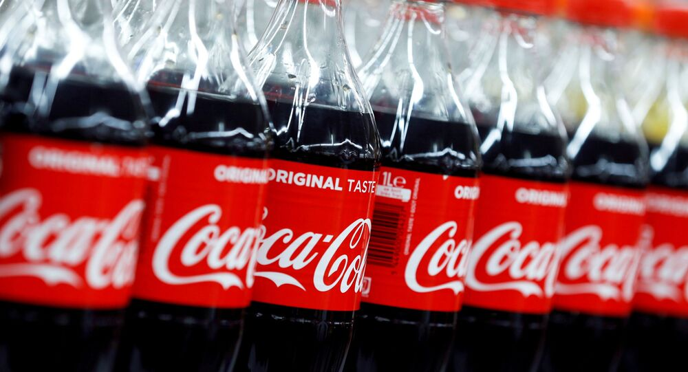 Bottles of Coca-Cola are seen at a Carrefour Hypermarket store in Montreuil, near Paris, France on 5 February 2018.