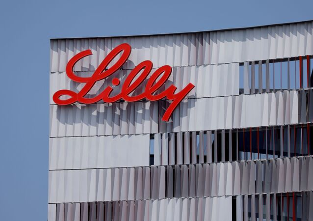 Eli Lilly logo is shown on one of the company's offices in San Diego, California