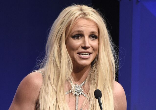 In this Thursday, 12 April 2018 file photo, Britney Spears accepts the Vanguard award at the 29th annual GLAAD Media Awards at the Beverly Hilton Hotel in Beverly Hills, California.