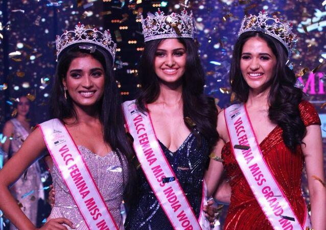 Top 3 Winners at VLCC Femina Miss India 2020 co-powered by Sephora & Roposo- Manasa Varanasi, VLCC Femina Miss India World 2020, Manika Sheokand, VLCC Femina Miss Grand India 2020 and Manya Singh, VLCC Femina Miss India 2020 Runner-up.