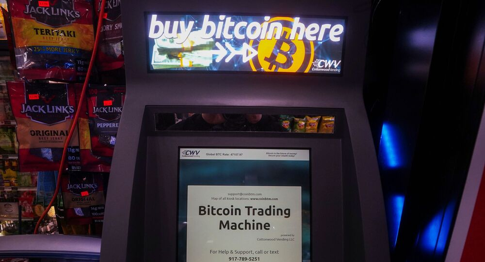 A Bitcoin ATM is pictured in a bodega in the Manhattan borough of New York City, New York, U.S., February  9, 2021. REUTERS/Carlo Allegri