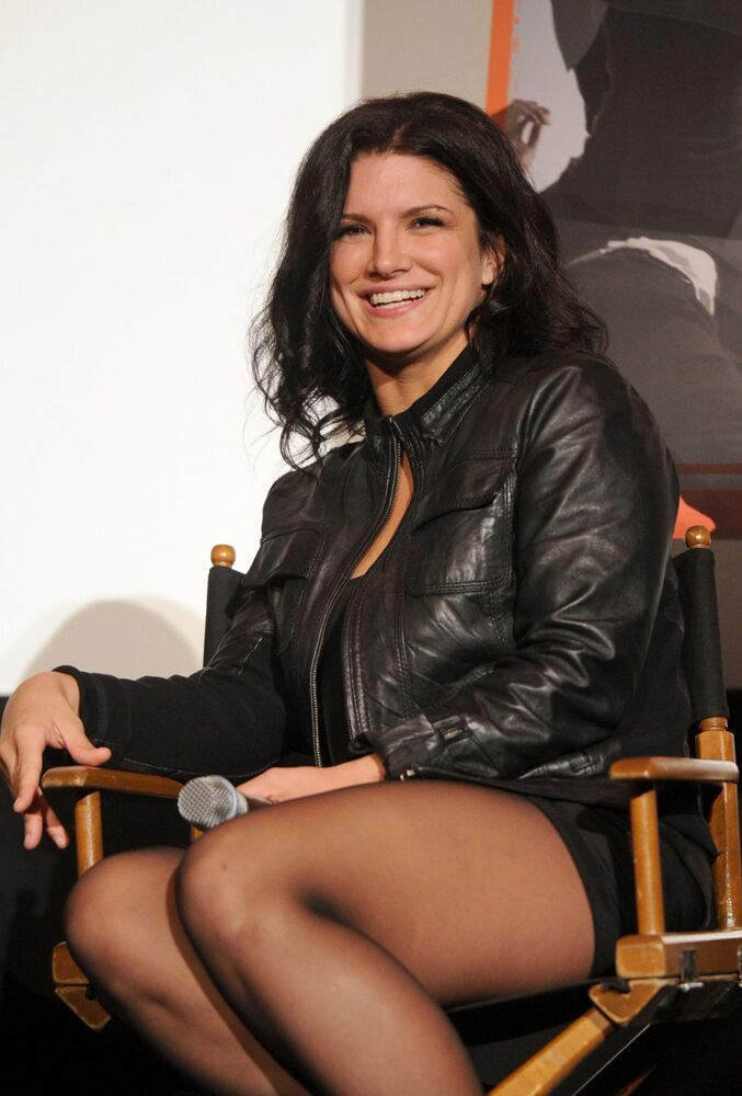 Actress Gina Carano attends the AFI FEST 2011 Presented By Audi secret screening of Haywire held at Grauman's Chinese Theatre on 6 November 2011 in Hollywood, California.