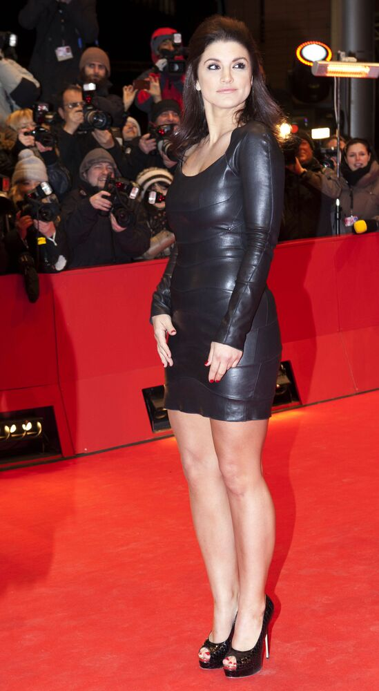 Actress Gina Carano arrives for the screening of the film Haywire at the 62 edition of the Berlinale, International Film Festival, Berlin, Wednesday, 15 February 2012.