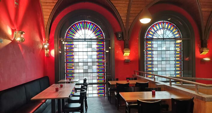 A church in Haarlem, Netherlands, transformed into a brewery