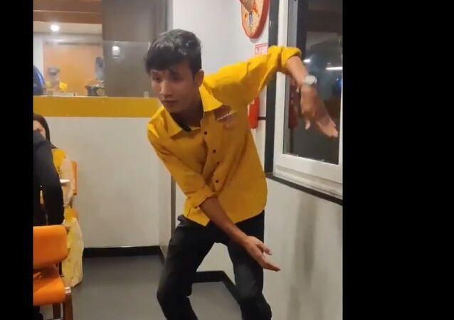 Surajit Tripura dances