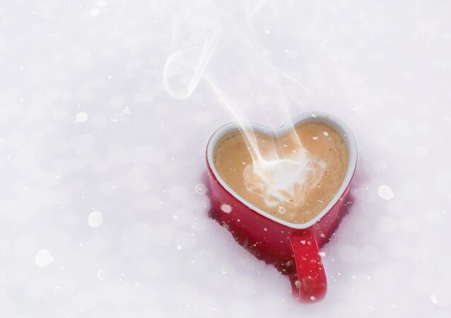 A cup of coffee on St.Valentine's Day