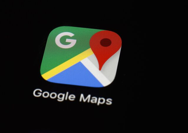 This March 19, 2018 photo shows the Google Maps app on an iPad in Baltimore.
