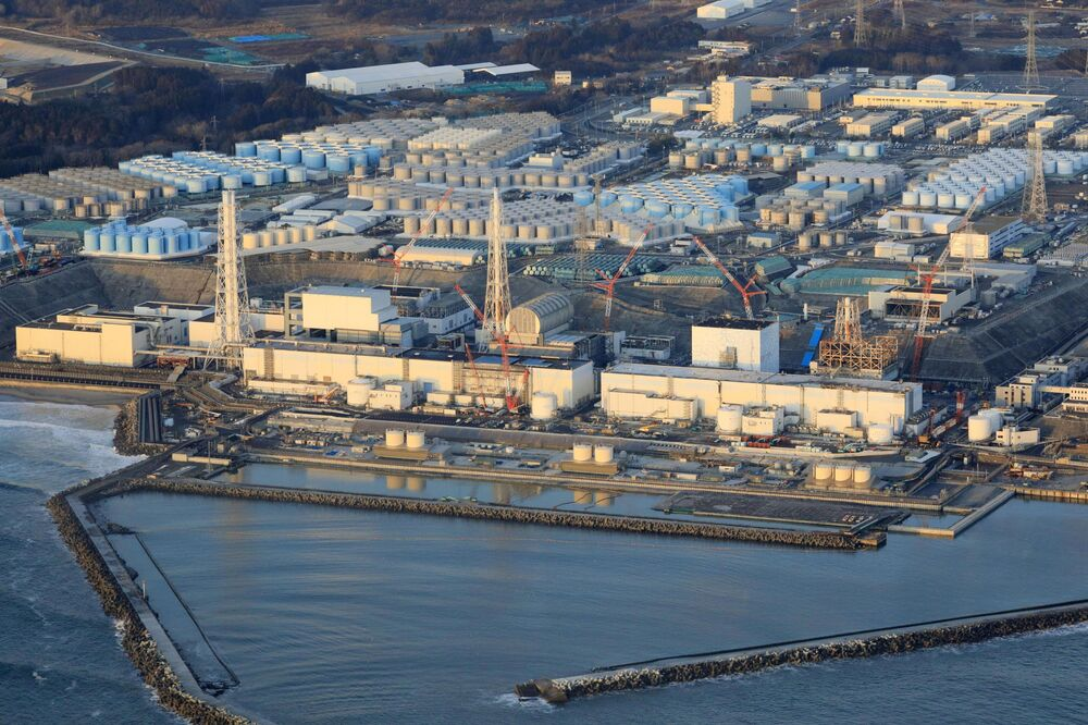 Fukushima Daiichi nuclear power plant in Okuma town, Fukushima Prefecture is pictured after a strong earthquake shook north-eastern Japan in this photo taken by Kyodo on 14 February 2021.