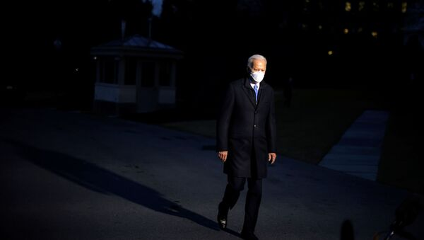 U.S. President Joe Biden leaves the Oval Office as he departs to Camp David from the South Lawn of the White House in Washington, U.S., February 12, 2021 - Sputnik International