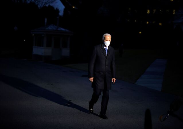 U.S. President Joe Biden leaves the Oval Office as he departs to Camp David from the South Lawn of the White House in Washington, U.S., February 12, 2021
