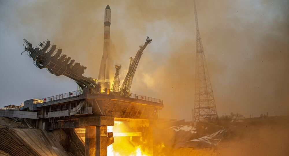Launch of the Soyuz-2.1a rocket carrier with the Progress MS-16 cargo ship from the Baikonur Cosmodrome