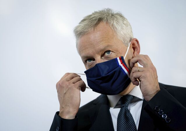 Bruno Le Maire, France's minister for economic and financial affairs, attends the Informal Meeting of Economics and Finance Ministers in Berlin, Germany, Friday, Sept. 11, 2020