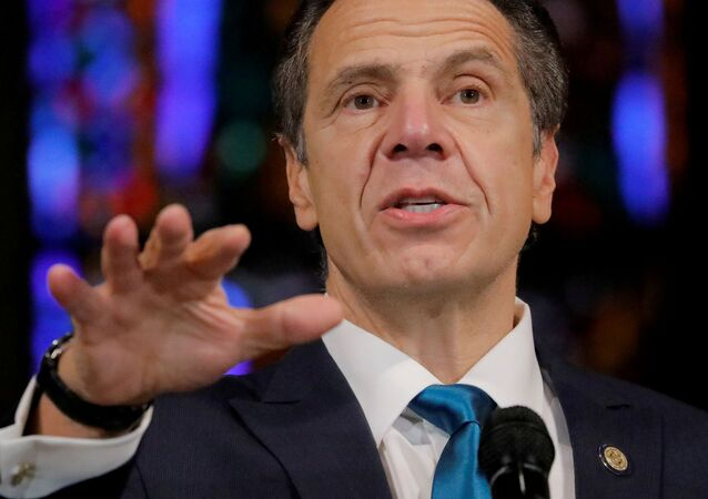 New York Governor Andrew Cuomo delivers remarks on the coronavirus disease (COVID-19) at the Riverside Church in Manhattan, New York City, U.S., November 15, 2020