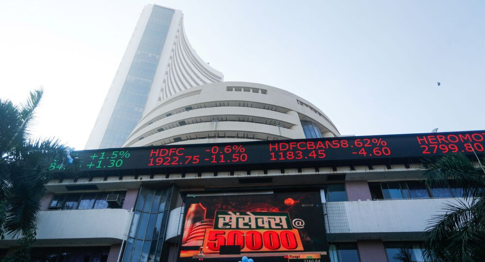 A general view of the Bombay Stock Exchange (BSE), after Sensex surpassed the 50,000 level for the first time, in Mumbai, India, January 21, 2021. REUTERS/Francis Mascarenhas