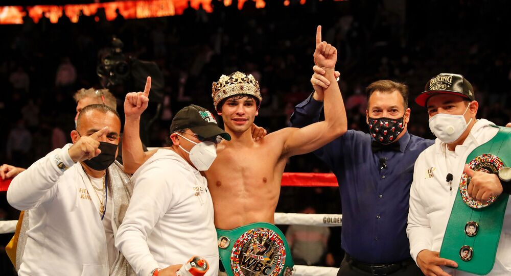 Ryan Garcia, after his victory over Luke Campbell in January 2021