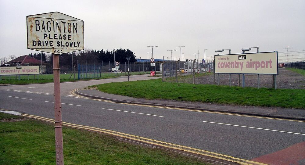 Main gate of Coventry Airport in Baginton, Warwickshire, near Coventry, England (File)