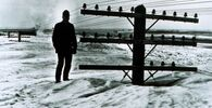 Standing tall in North Dakota, where a blizzard in 1966 nearly buried utility poles.