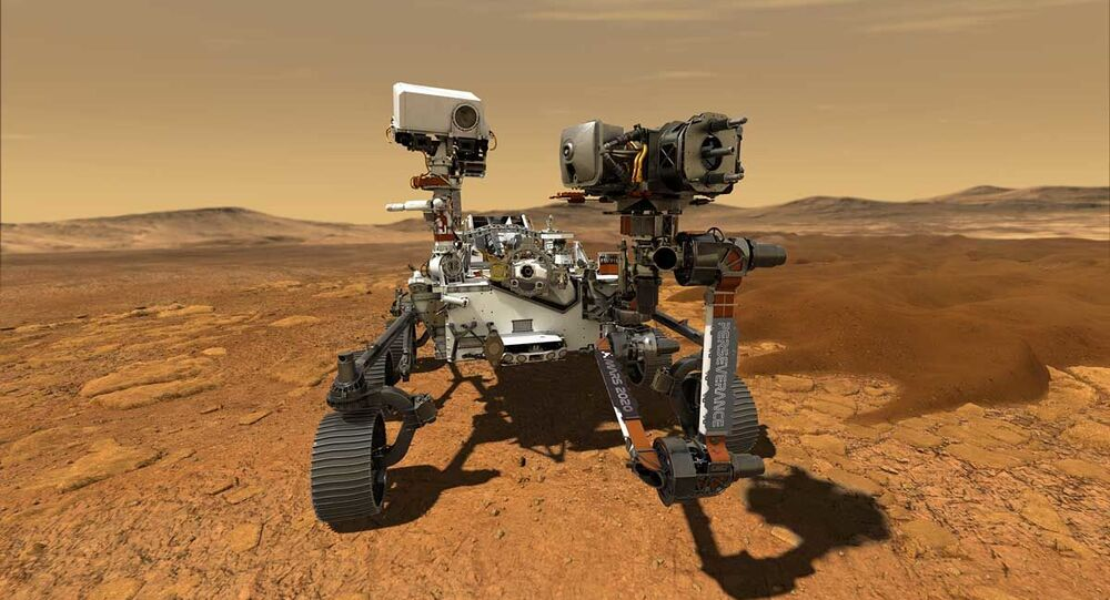 NASA's Perseverance Mars rover, the biggest, heaviest, most advanced vehicle sent to the Red Planet by the National Aeronautics and Space Administration (NASA), is seen on Mars in an undated illustration provided by Jet Propulsion Laboratory in Pasadena, California