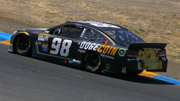 Josh Wise's No. 98 Dogecoin Chevrolet at Sonoma Raceway in 2014 - Sputnik International