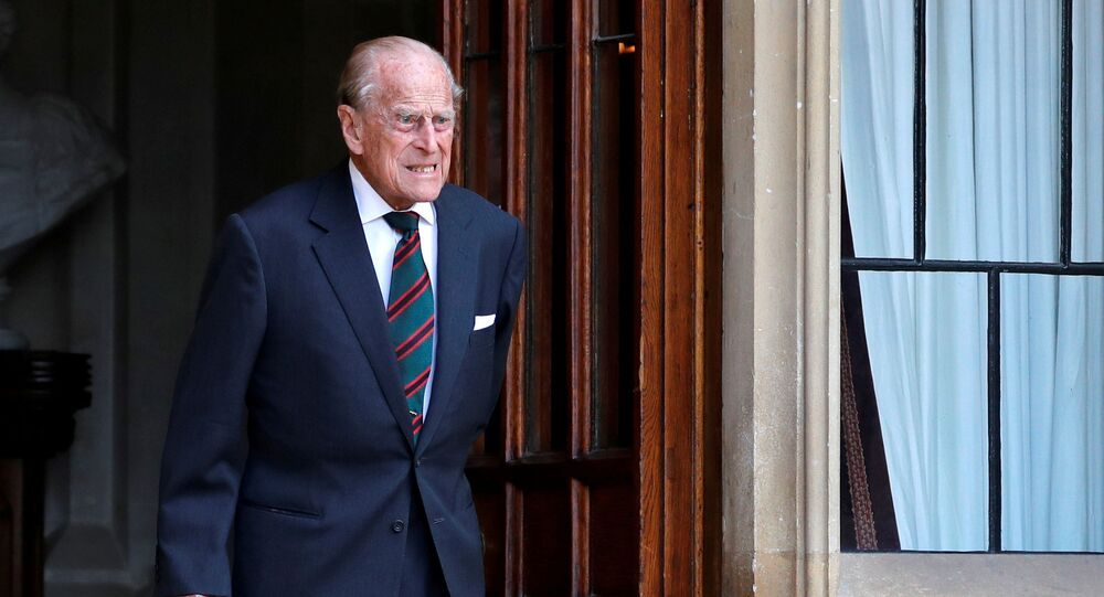 Britain's Prince Philip arrives for the transfer of the Colonel-in-Chief of the Rifles at Windsor Castle in Britain July 22, 2020