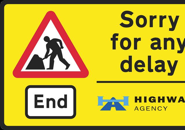 Repair works sign