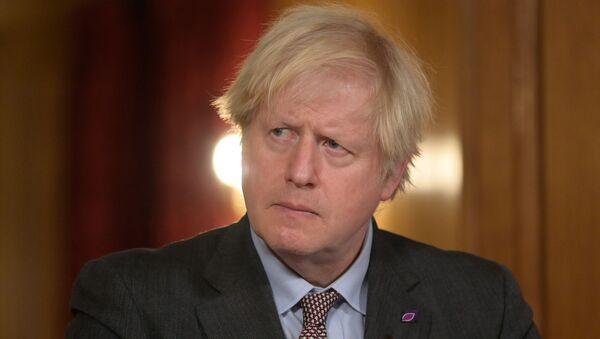 Britain's PM Johnson holds virtual coronavirus briefing in London - Sputnik International