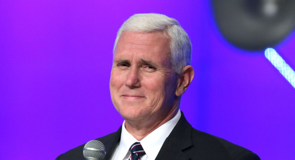 Governor Mike Pence speaking with supporters at a campaign rally and church service at the Living Word Bible Church in Mesa, Arizona.