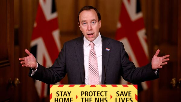 Britain's Health Secretary Matt Hancock gives an update on the COVID-19 pandemic - Sputnik International