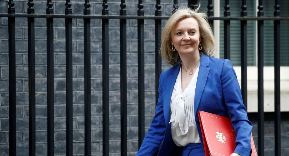 Britain's Secretary of State of International Trade and Minister for Women and Equalities Liz Truss is seen outside Downing Street, in London, Britain March 17, 2020.