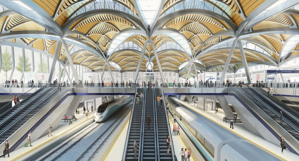 An artist's impression of the new HS2 terminal at London's Euston station
