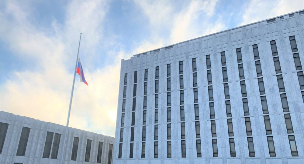 Russian Embassy in US lowered its flag as a sign of solidarity with the American people mourning the loss of more than 500,000 lives due to the coronavirus pandemic