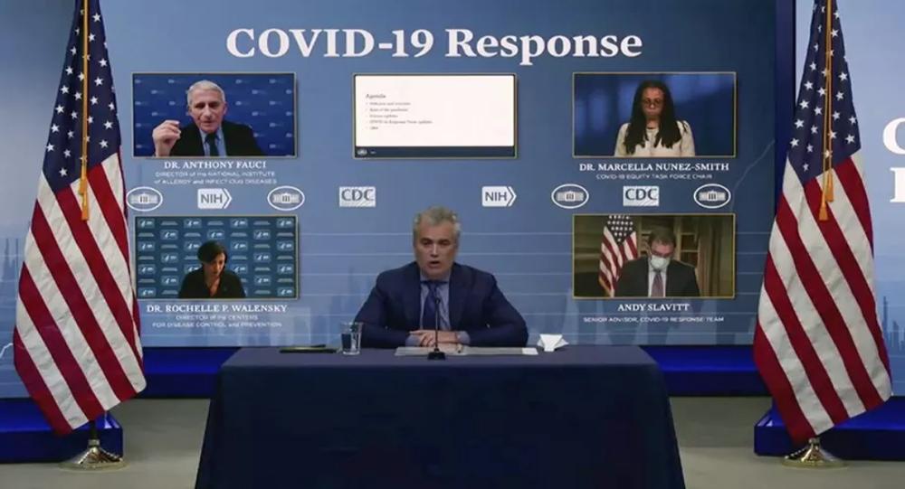 Screengrab of White House coronavirus briefing.