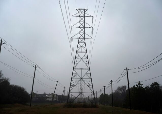 Power lines are seen after winter weather caused electricity blackouts in Houston, Texas, U.S. February 17, 2021