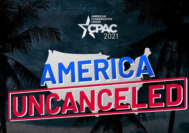 Screenshot from the website of Conservative Political Action Conference (CPAC) 2021