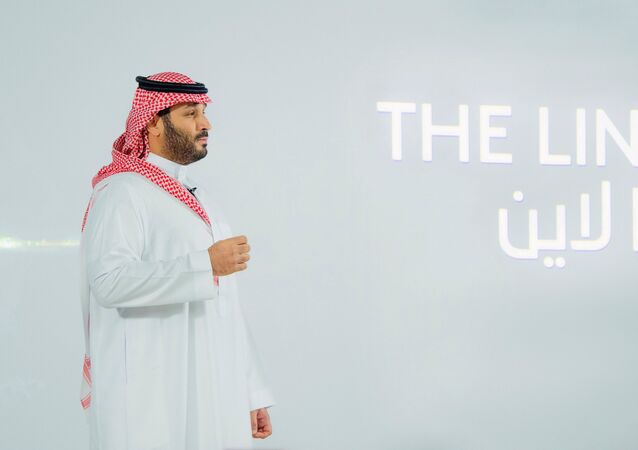 Saudi Crown Prince Mohammed Bin Salman announces a zero-carbon city called The Line to be built at NEOM in northwestern Saudi Arabia, January 10, 2021
