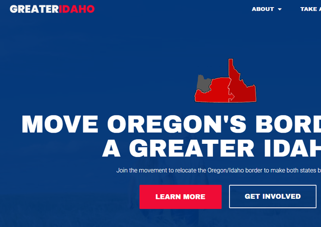 Screenshot from the website of the Greater Idaho movement