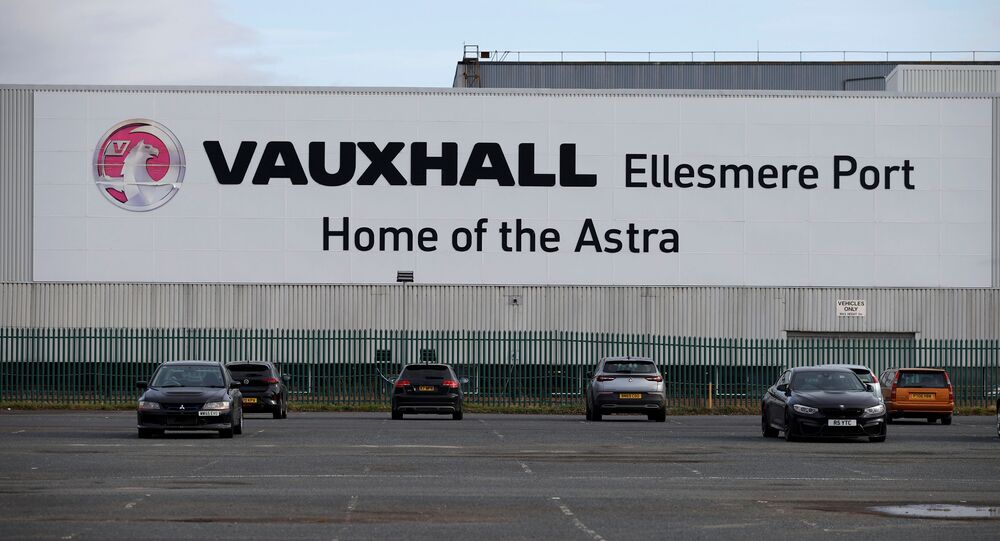 The Vauxhall Astra factory in Ellesmere Port, near Liverpool