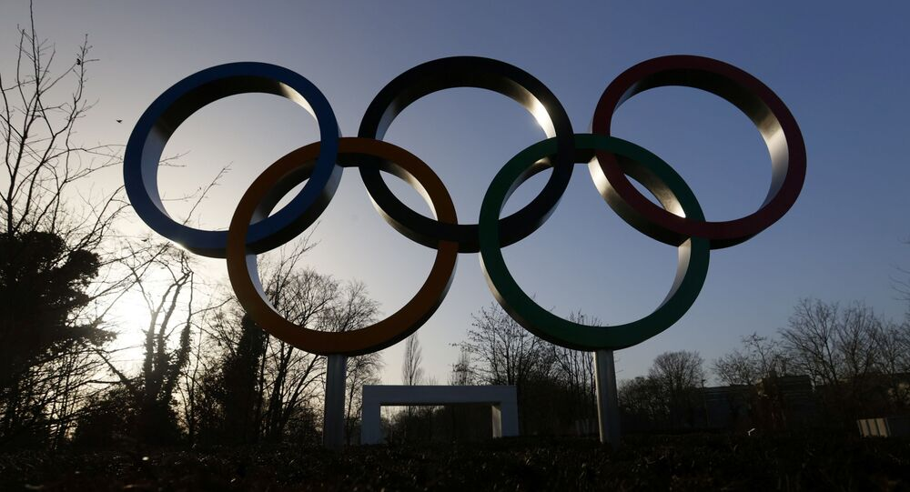 The Olympic rings are pictured in front of the International Olympic Committee (IOC) headquarters during the coronavirus disease (COVID-19) outbreak in Lausanne, Switzerland, February 24, 2021