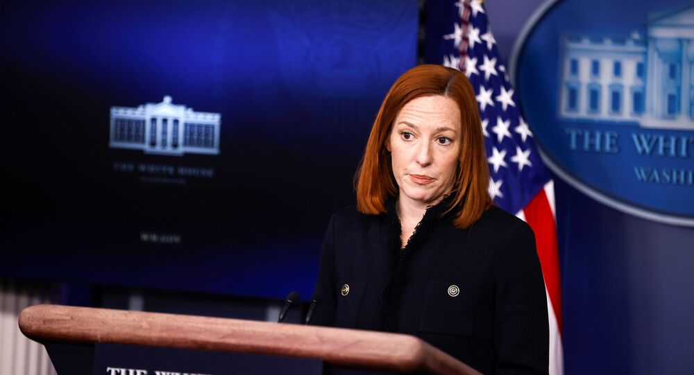 White House Press Secretary Jen Psaki delivers remarks during a press briefing at the White House in Washington, U.S., February 11, 2021