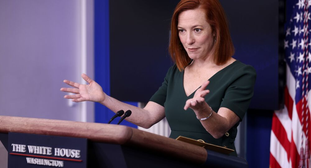 White House Press Secretary Jen Psaki holds the daily press briefing at the White House in Washington, U.S. February 25, 2021