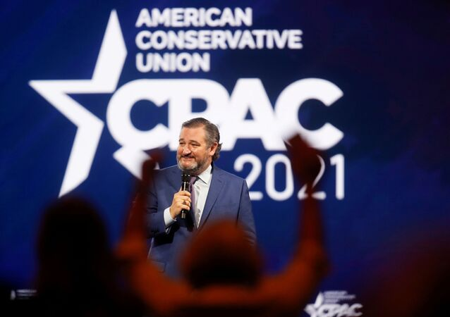U.S. Sen. Ted Cruz of Texas speaks at the Conservative Political Action Conference (CPAC) in Orlando, Florida, U.S. February 26, 2021