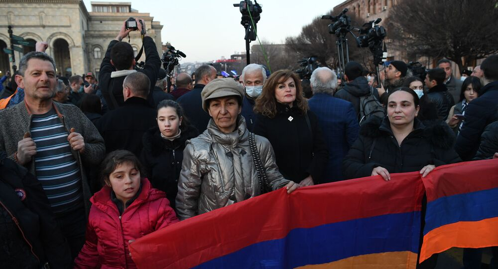 Opposition protests in Yerevan