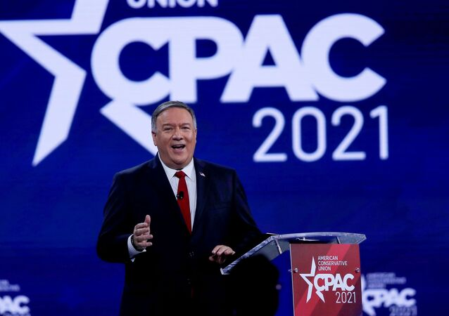 Former U.S. Secretary of State Mike Pompeo speaks at the Conservative Political Action Conference (CPAC) in Orlando, Florida, U.S. February 27, 2021