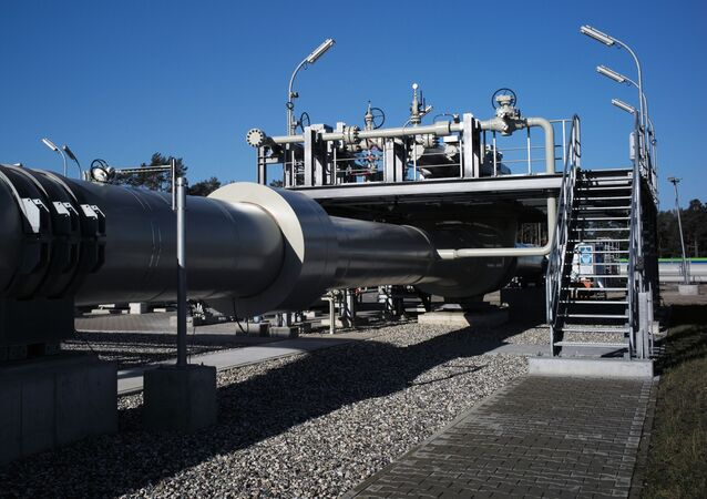 Construction of Nord Stream 2 gas pipeline in Germany