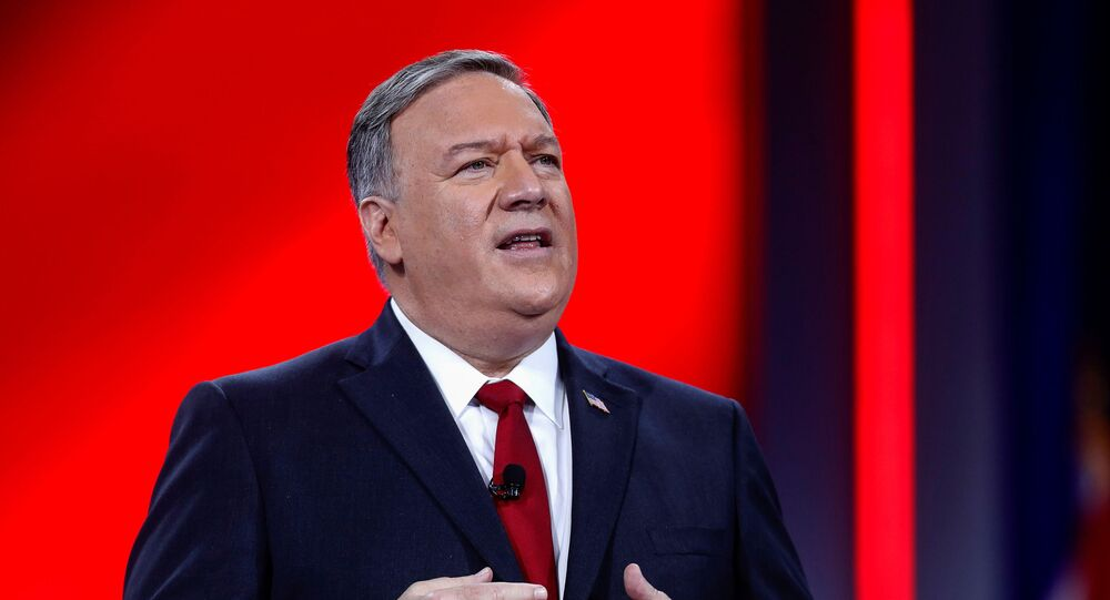 Former U.S. Secretary of State Mike Pompeo speaks at the Conservative Political Action Conference (CPAC) in Orlando, Florida, U.S. February 27, 2021.